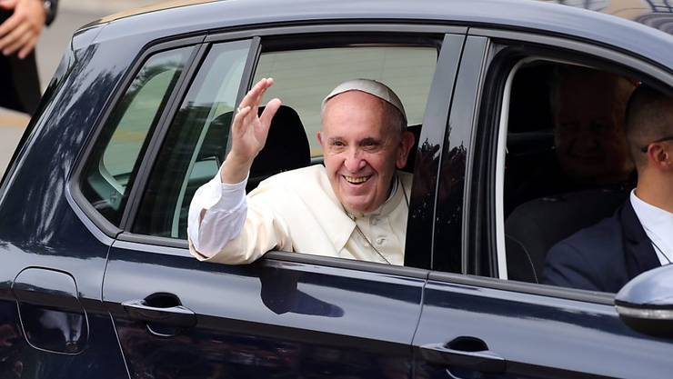 Papst Franziskus bei der Ankunft in Krakau. Er rief die Jugend auf, Vorreiter der Geschichte zu sein.