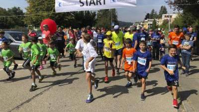 Der Start zum Zwei-Stunden-Lauf: Dank es Spendenlaufs kamen rund 50 000 Franken zusammen. (Bilder: Tobias Bolli)