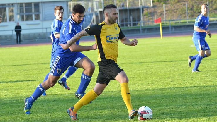 NK Pajde (blau) wird im Basler Cupfinal mit einer geschwächten Mannschaft antreten müssen.