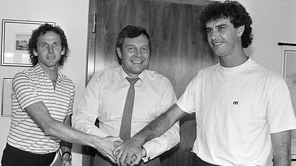 Der verstorbene Gerhard Strack (ganz rechts) spielte einst für den FC Basel
