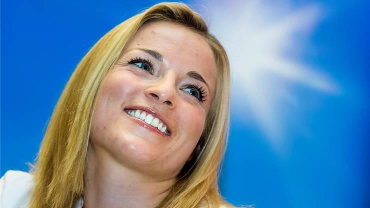 Lara Gut freut sich auf die Rückkehr nach St. Moritz: «Ich bin mit einem Lächeln angereist.»keystone
