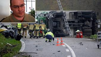 Helfer im Einsatz am Unfallort – David Bürge: «Wenn die Betroffenen den Unfallort verlassen und nach Hause gehen, ist es wichtig, dass sie wissen, wie der Tag weitergeht.»