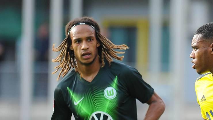Musste sich bei seinem Debüt für den VfL Wolfsburg mit einem Sechsminuteneinsatz begnügen: Der ehemalige YB-Spieler Kevin Mababu.