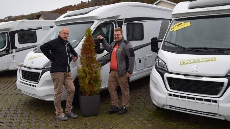 Theo und Joel Strebel vom Strewo Campershop in Waltenschwil (Büelisacker).