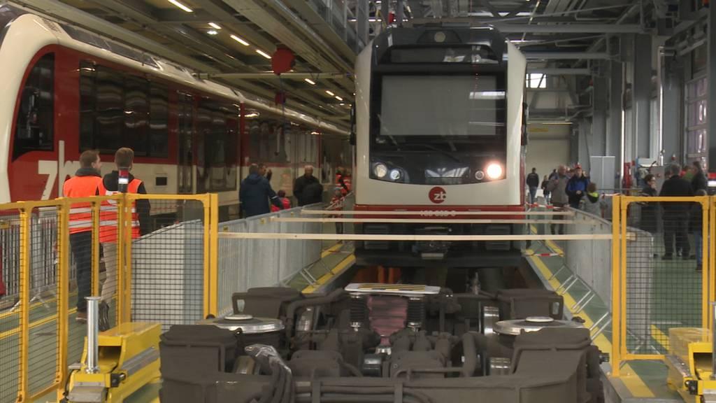 Neue Werkstatthalle der Zentralbahn in Stansstad