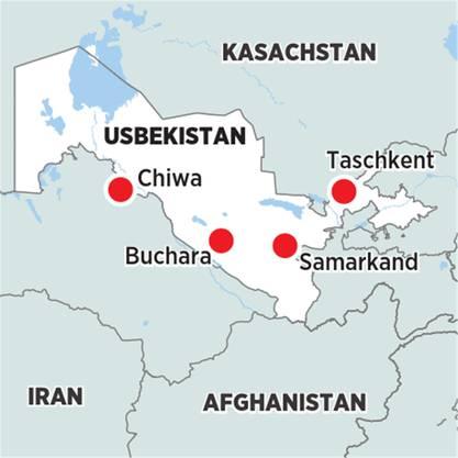 Usbekistan Karte.Usbekistan Lockt Aufbruch An Der Seidenstrasse Leben Wissen