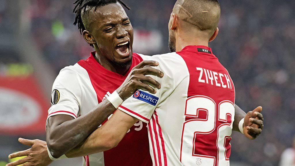 Bertrand Traoré traf zweimal für Ajax Amsterdam