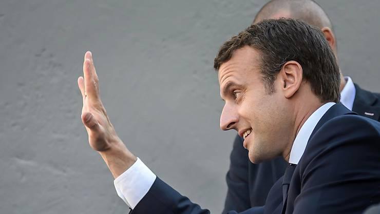 Dürfte für seine Reformpläne die Mehrheit im Parlament bekommen: der neue französische Präsident Emmanuel Macron am Vortag der ersten Runde der Parlamentswahlen in seiner Heimatgemeinde Le Touquet.