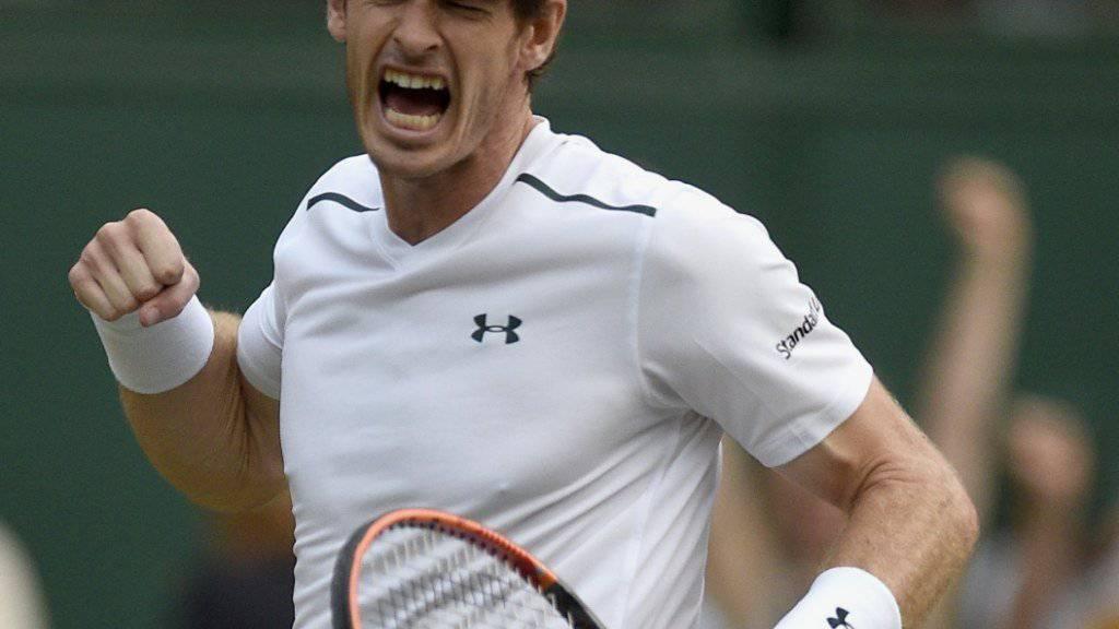 Ein hartes Stück Arbeit: Andy Murray vermied gegen Fabio Fognini knapp einen fünften Satz