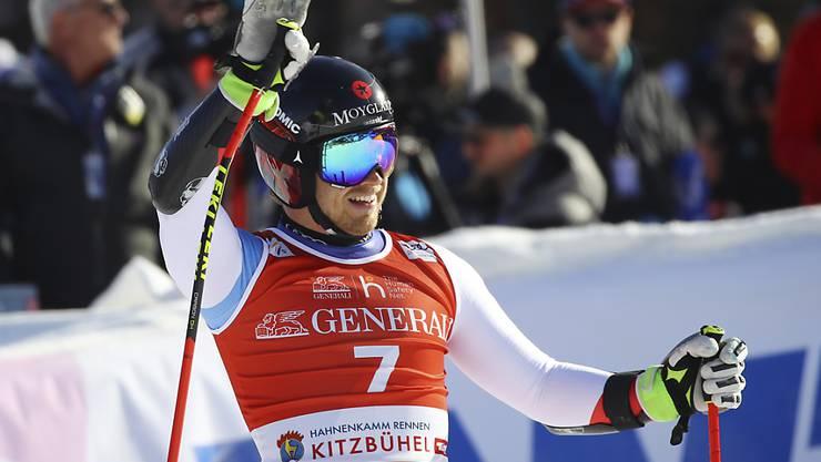 Mauro Caviezel wird im Super-G von Kitzbühel Vierter, zu einer Podestplatzierung fehlen ihm 0,33 Sekunden