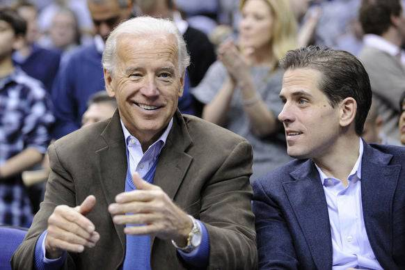 Joe Biden mit seinem Sohn Hunter.