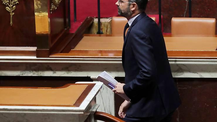 Klimapolitik im Zentrum: Der französische Premierminister Edouard Philippe bei seiner Regierungserklärung vor der Nationalversammlung in Paris.