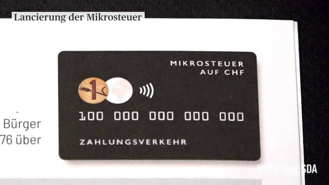 Mikrosteuer-Initiative lanciert