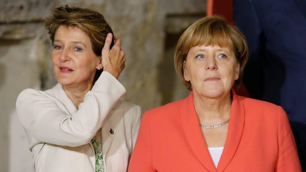 Gespräch mit Angela Merkel: Simonetta Sommaruga lobt die EU
