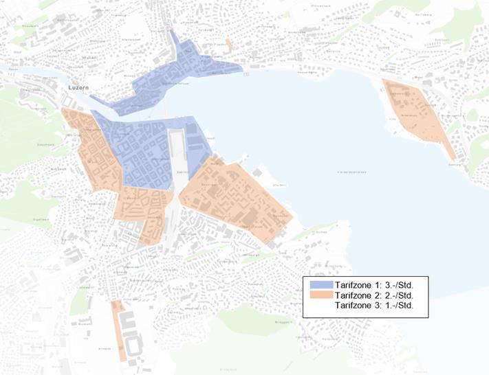 Parkgebühren Karte Stadt Luzern