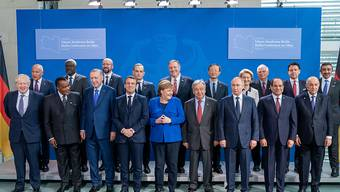 ARCHIV - Die Teilnehmer des Berliner Libyen-Gipfels im Januar. Foto: Michael Kappeler/dpa