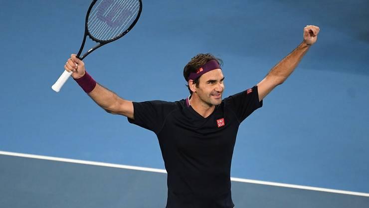 Die Erlösung: Roger Federer gewinnt das Match gegen John Millman