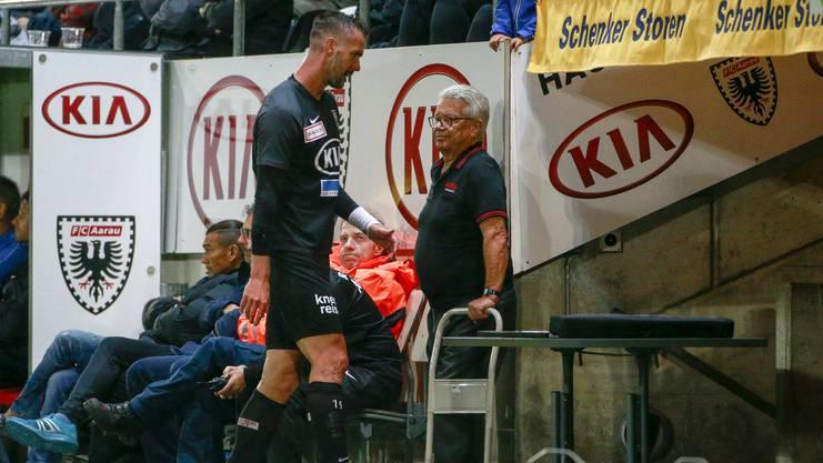 Maierhofer hat derzeit einen schwierigen Stand beim FC Aarau.