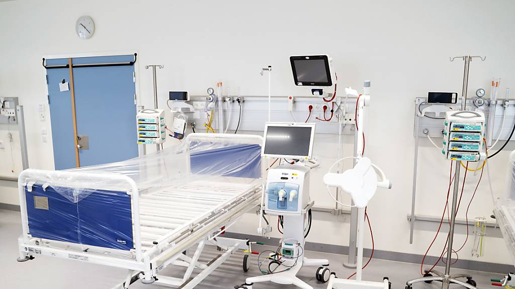 Ein Spitalzimmer für Corona-Patienten in Kopenhagen.