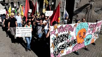 Solidaritäts-Kundgebung für Asylsuchende in Solothurn