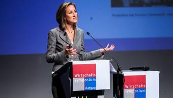 Carolina Müller-Mühl, Verwaltungsratspräsidentin der Müller-Möhl Group, bei ihrem Vortrag.