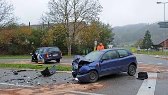 Schwere Kollision zweier Autos in Zell.