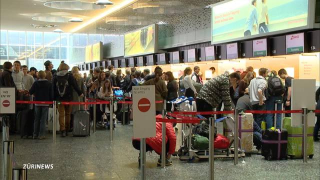 Ferienbetrieb am Flughafen Zürich