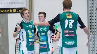 Ob Wilers Patrick Mendelin, Deny Kaenzig und Adrian Zimmermann (von links) auch am Champions Cup etwas zu jubeln haben, wird sich zeigen.