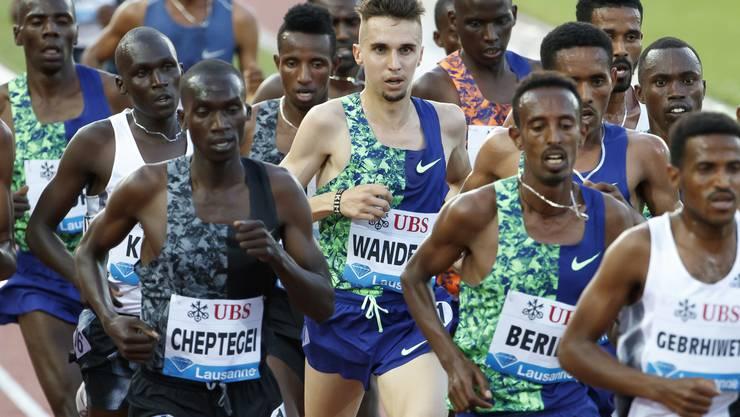 Julien Wanders - der weisse Afrikaner. (KEYSTONE/Alexandra Wey)