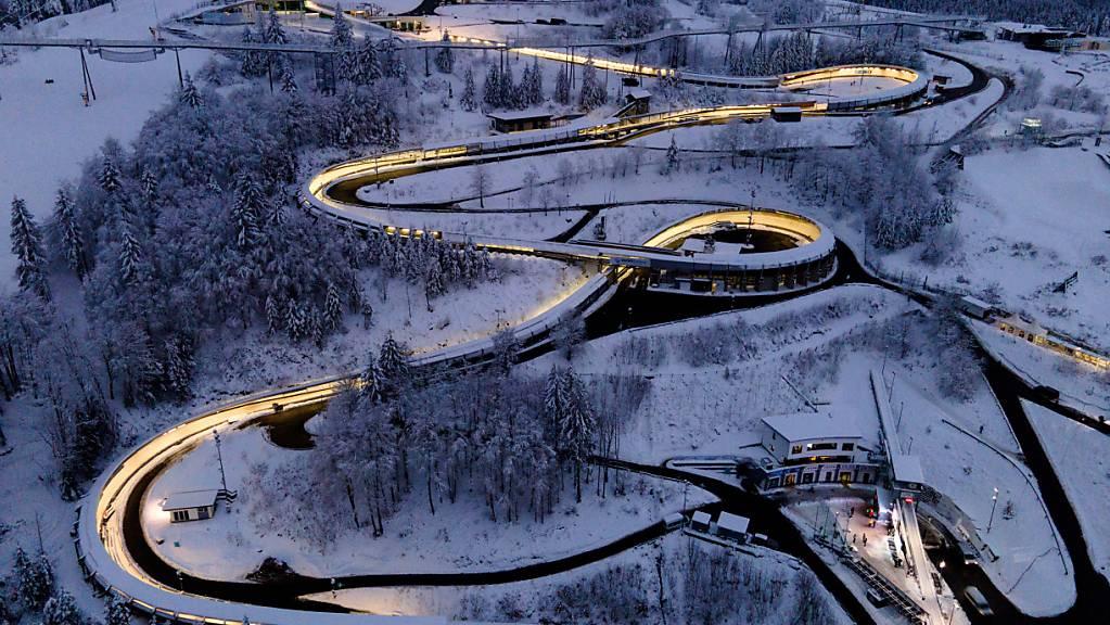 Der Eiskanal im deutschen Winterberg war Schauplatz der EM-Wettkämpfe im Zweier- und Viererbob.