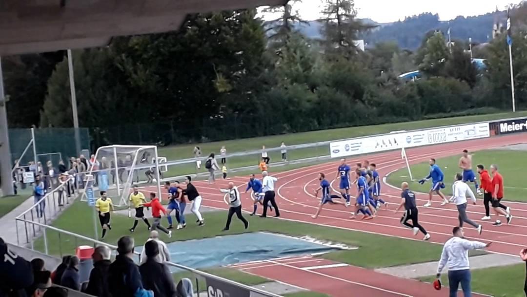 Zofingen – NK Pajde: Zuschauer filmten die Tumulte nach Schlusspfiff