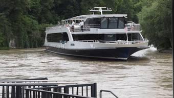 Nach dem Lockdown legte der «Rhystärn» ab Mitte Juni wieder in Rheinfelden an – aber nur nach eingeschränktem Fahrplan.