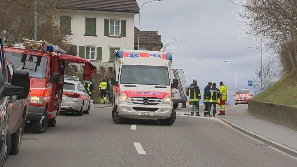 Frontalkollision Sitterdorf (© BRK News/Beat Kälin)