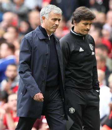 José Mourinho (l.) und Rui Faria.