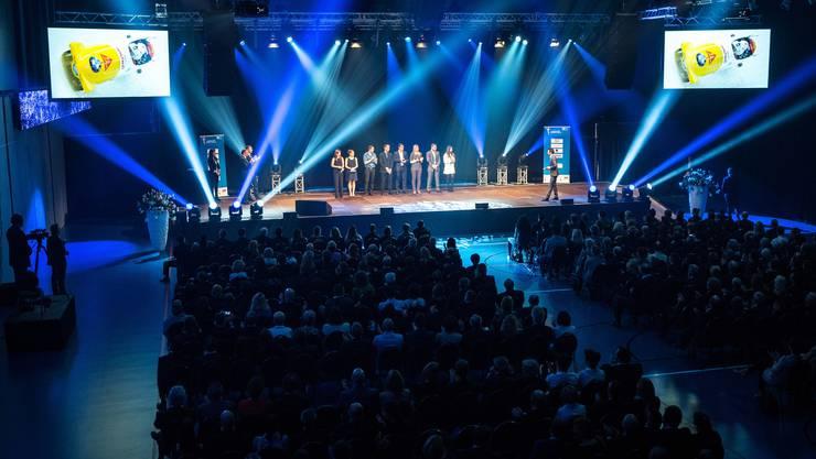 Die Sport- und Freizeitarena GoEasy erwies sich als perfekter Ort für die Aargauer Sport-Gala.