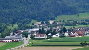Ortsbild Dorfansicht Matzendorf fotografiert von Laupersdorf aus