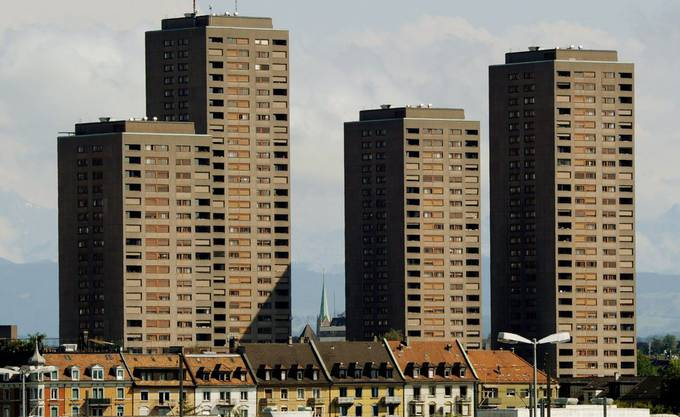 Die Hardau-Hochhäuser entstanden in den 60er Jahren aus Wohnungsmangel.