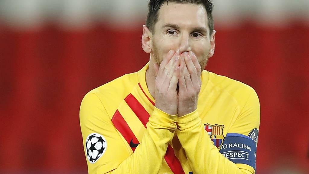 Lionel Messi konnte nicht glauben, dass er mit dem Penalty nicht getroffen hatte
