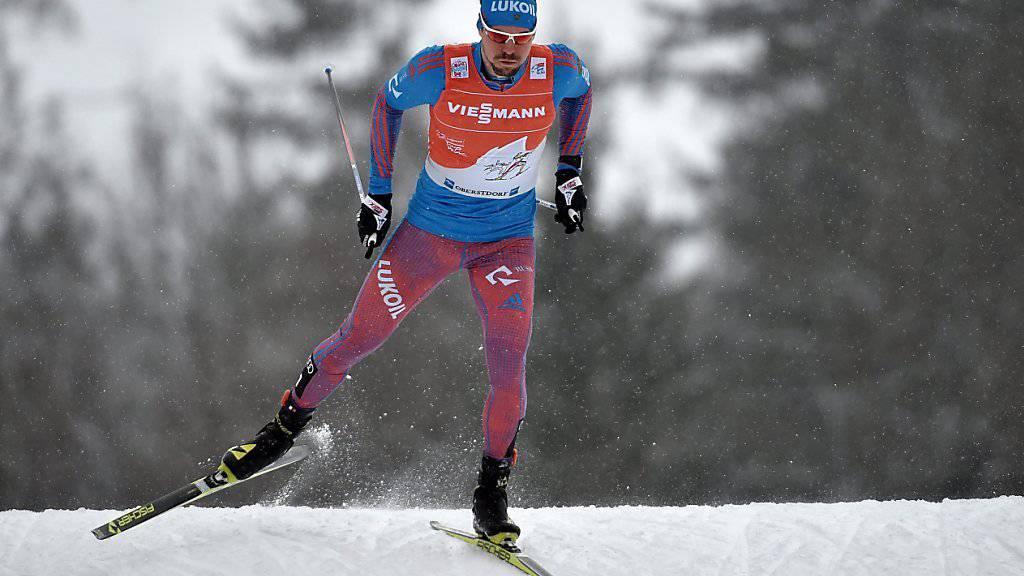 Sergej Ustjugow nimmt die Schlussetappe der Tour de Ski mit mehr als einer Minute Vorsprung in Angriff