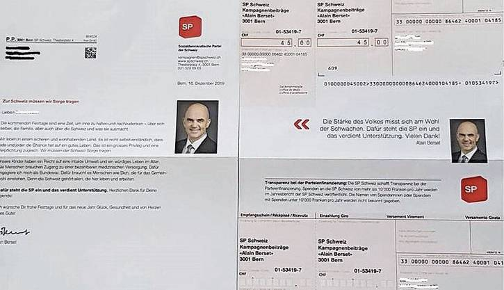 Brief-Kopf des Ärgers: Bundesrat Alain Berset.