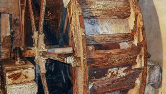 Das Mühlerad im Biemensdorfer Ortsmuseum muss saniert werden.