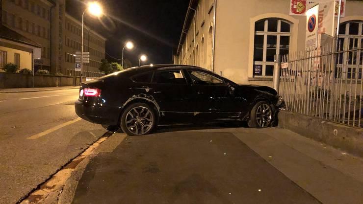 Der Fahrer dieses Audis wollte vor der Polizei flüchten.