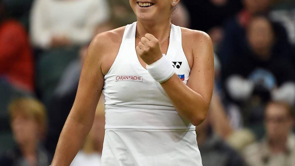 Viel Grund zum Lachen: Belinda Bencic zeigte zum Auftakt in Wimbledon eine starke Leistung