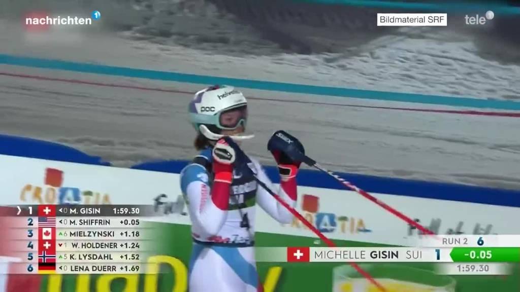 Michelle Gisin steht in Zagreb wieder auf dem Slalom-Podest