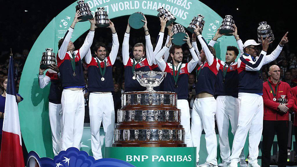 2017 gewann Frankreich zum zehnten Mal den Davis Cup