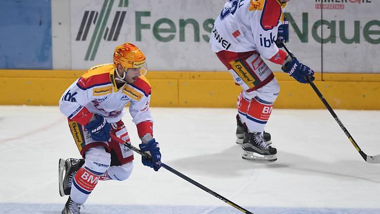 Topskorer Denis Hollenstein erzielte seine Saisontore 12 und 13