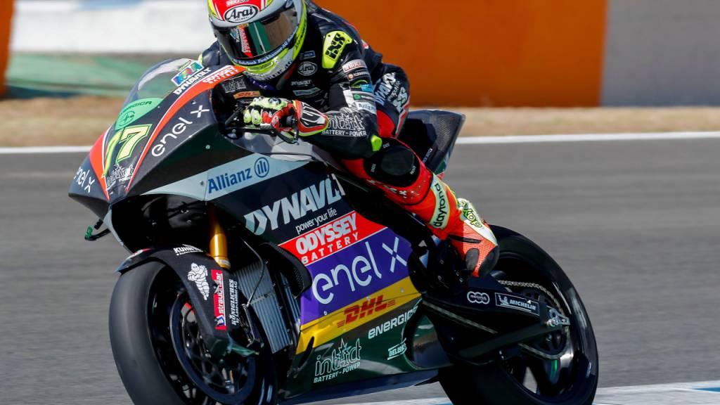 Geglücktes Debüt in der MotoE-Klasse: Dominique Aegerter auf dem Circuit in Jerez