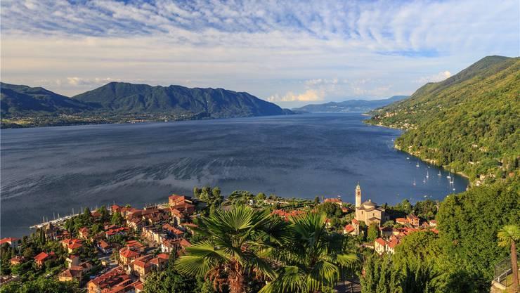 Ganz nahe an der Schweiz: Der mediterrane Ort Cannero Riviera liegt am Lago Maggiore.