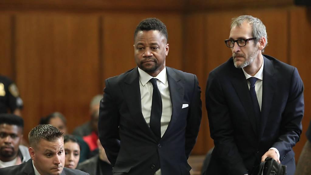 Vorwurf der sexuellen Belästigung: US-Schauspieler Cuba Gooding Jr. («Jerry Maguire») beim Verlesen der Anklage im Gerichtssaal in New York.
