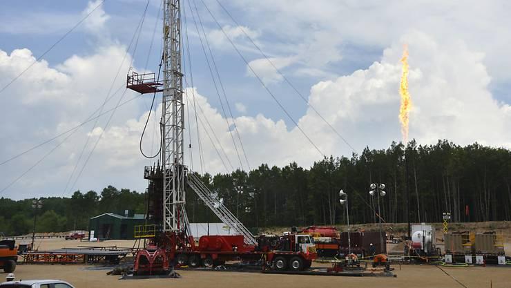 Eine Fracking-Anlage im US-Bundesstaat Michigan.